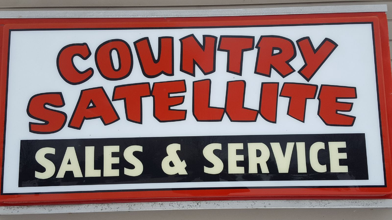 Country Satellite sign